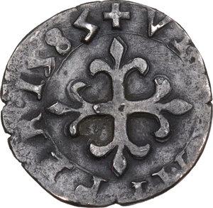 reverse: Desana. Delfino Tizzone (1583-1598). Liard 1585