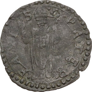 reverse: Fano. Gregorio XIII (1572-1585), Ugo Boncompagni. Quattrino