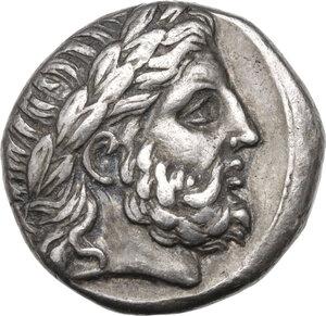 obverse: Kings of Macedon. Philip II (359-336 BC).AR Tetradrachm, Amphipolis mint, c.323-317 BC