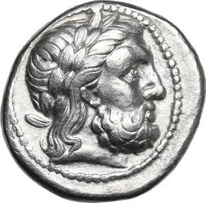 obverse: Kings of Macedon. Philip II (359-336 BC).AR Tetradrachm. Struck under Philip III, Amphipolis mint, c. 323-315 BC