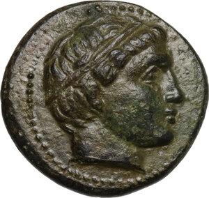 obverse: Kings of Macedon. Alexander III the Great. 336-323 B.C. AE 18mm. Miletos mint, 323-319 B.C