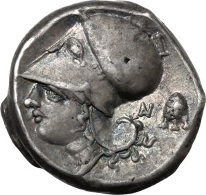 reverse: Akarnania, Anactorium. AR Stater, 345-300 BC
