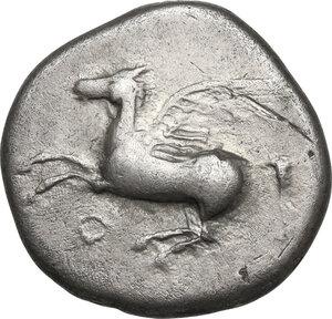 obverse: Corinthia, Corinth. AR Stater, c. 400-375 BC