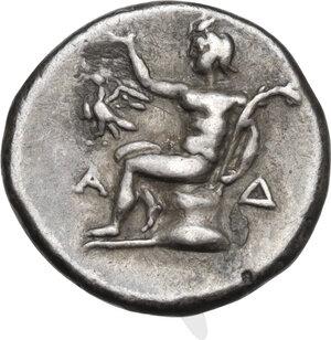 reverse: Arkadia, Arkadian League. AR Triobol, c. 195-188 BC