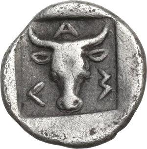 reverse: Troas, Lamponeia. AR Obol, late 5th-early 4th century BC