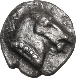 obverse: Aeolis, Kyme. AR Tetartemorion, c. 480-450 BC