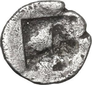 reverse: Aeolis, Kyme. AR Tetartemorion, c. 480-450 BC