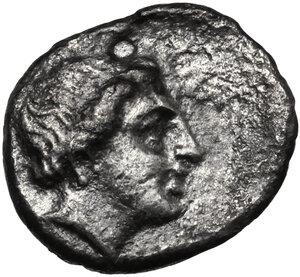 reverse: Lesbos, Mytilene. AR Diobol, c. 400-350 BC