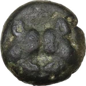 obverse: Lesbos, unattribuited early mint. Debased BI (?) 10 mm. c.550-480 BC
