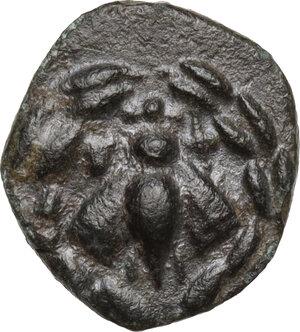 obverse: Ionia, Ephesos. AE 14 mm. Civic issue. Python, Magistrate, c. 50-27 B.C