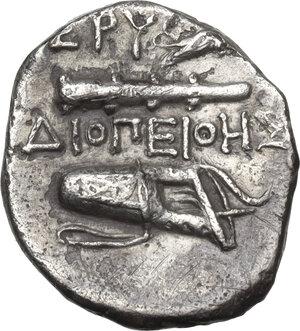 reverse: Ionia, Erythrai. AR Drachm, Diopeithes magistrate circa 325-315 BC