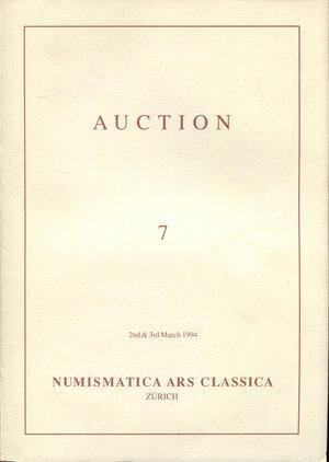 obverse: ARS CLASSICA AG. – Auction 7. Zurich, 2 – March, 1994.  Etruscan, Greek & Roman coins. Pp. 96, nn. 891, tavv. 1+ 8 a colori, + 83 in b\n. ril. editoriale, buono stato, importantissima collezione.
