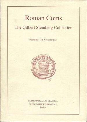 obverse: ARS CLASSICA – SPINK TAISEI. -  Zurich, 16 – November, 1994. Roman coins. The GILBERT  STEINBERG collection. Pp. 97, nn. 893, tavv. 7 a colori + 31 b\n. ril. editoriale, buono stato, importante vendita.
