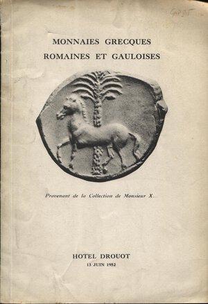 obverse: BOURGEY E. – Paris, 13 – Juin, 1952. Collection de Monsieur X.. Monnaies grecques romaines et gauloise.  Nn. 239,  tavv. 4. Ril. editoriale sciupata, buono stato, Spring, 48.