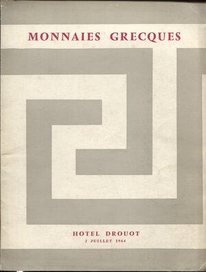 obverse: BOURGEY E. – Paris, 2 – Juliette, 1964. Monnaies Grecques.  Nn. 123, tavv. 3. Ril. editoriale, buono stato, lista prezzi Val. Spring, -