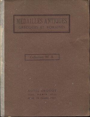 obverse: FLORANGE  J. – CIANI L. – Paris, 16 – Octobre, 1923. Collection Mr. X. Medailles antiques grecques et romaines.  Pp. 18,  nn. 136,  tavv. 6. Ril. ed. buono stato, raro. Spring 182
