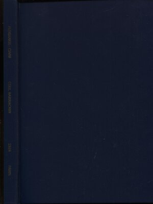 obverse: FLORANGE  J. – CIANI  L. -  Paris, 18 – Decembre, 1924.  Collection Barrachin. Antiquites, monnaies grecques – romaines – francaise entrangeres. Pp. 60,  nn. 785,  tavv. 22. Ril. tutta similpelle con scritte sul dorso, buono stato. Spring, 184