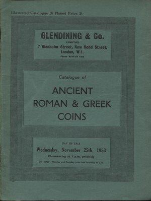 obverse: GLENDINING & CO. London, 25 – November, 1953. Catalogue of ancient Roman & Greek coins. Pp. 24, tavv. 8. Ril. editoriale, buono stato, Spring, 228.