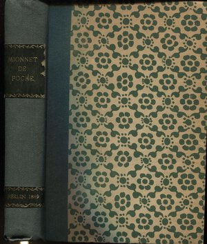 obverse: BOUTKOWSKI-GLINKA  A. -  Petit mionnet de poche ou repertoire pratique a l'usage des numismatiques.... Berlin, 1889.  Pp. 418. Ril. \ similpelle, con tassello, buono stato, raro.