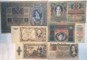obverse: Banconote. Austria. Lotto di 10 pezzi.