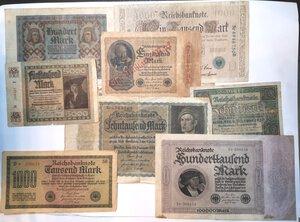 obverse: Banconote. Germania. Lotto di 23 pezzi di Reichmark, vari nominali.