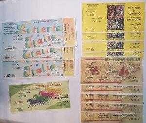 reverse: Banconote. Lotto di 21 pezzi, Biglietti della lotteria Italia, di Agnano e Viareggio.