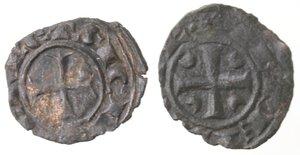 obverse: Brindisi. Lotto di 2 monete. Corrado II. 1254-1258. Denaro con C tra crescenti. Sp. 178. Denaro con CVR. Sp. 173. Mi.
