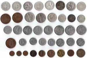 reverse: Casa Savoia. Lotto di 41 monete. Di cui 11 in Argento.