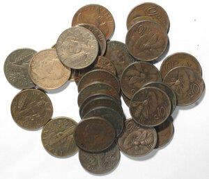 obverse: Vittorio Emanuele III. 1900-1943.Lotto di 27 monete da 10 centesimi Ape e Impero. Date non ripetute. Ae.