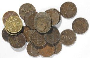 obverse: Vittorio Emanuele III. 1900-1943.Lotto di 27 monete da 5 centesimi Spiga e Impero. Date non ripetute. Ae.