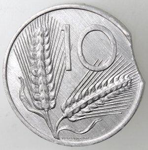 reverse: Repubblica Italiana.10 Lire 1986 Spiga. It. Mancanza del tondello.