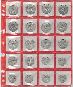 obverse: Repubblica Italiana.Lotto di 20 monete. 12 monete da 5 Lire 1950. 2 monete da 2 Lire 1948-1950. 6 monete da 1 Lira 1949. It.