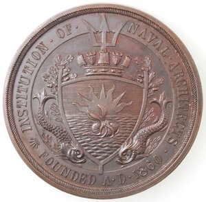 obverse: Medaglie. Institution of Naval Architects Founded A.D. 1860. Medaglia 1929. Ae.