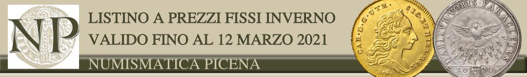 Banner Numismatica Picena - Listino a prezzi fissi inverno 2021