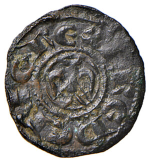 obverse: Sicilia. Federico II di Svevia (1197-1250). Denaro (Palermo o Messina) MI gr. 0,67. Spahr 90. MEC14, 581. D Andrea Hohenstaufen 91. Raro. BB