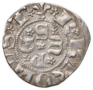 obverse: Sulmona. Carlo III di Durazzo (1382-1385). Bolognino AG gr. 0,83. D.A. 1. MIR 770. Buon BB