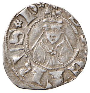 reverse: Sulmona. Carlo III di Durazzo (1382-1385). Bolognino AG gr. 0,83. D.A. 1. MIR 770. Buon BB