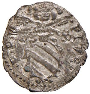 obverse: Fano. Pio V (1566-1572). Quattrino MI gr. 0,71. Muntoni 55. Ciavaglia 16. MIR 1111/1. Piena argentatura d epoca, q.FDC