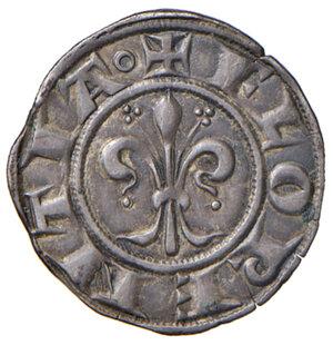 obverse: Firenze. Repubblica sec. XIII-1532. Fiorino nuovo da 12 denari (III serie: 1267-1279) AG gr. 1,74. Bernocchi 49/53. MIR 41. Patina di medagliere, q.SPL