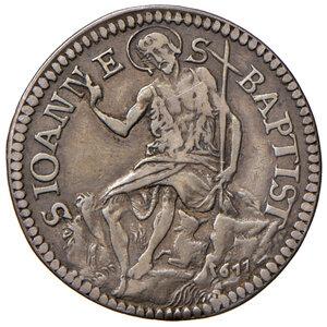 reverse: Firenze. Cosimo III de Medici (1670-1723). Testone 1677 AG gr. 8,71. Galeotti XIV, 1/4. MIR 333. Raro. Con cartellino di antica raccolta. q.BB