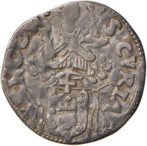 reverse: Ancona. Clemente VII (1523-1534). Mezzo giulio AG gr. 1,50. Muntoni 95. Dubbini-Mancinelli pag. 119 (2° tipo). MIR 823/2. Villoresi 235. Molto raro. BB/q.BB