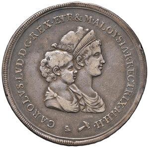obverse: Firenze. Carlo Ludovico di Borbone reggenza di Maria Luigia (1803-1807). Dena 1803 AG. Pagani 23. MIR 422/1. Lievi colpetti sul bordo, BB