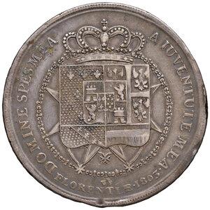 reverse: Firenze. Carlo Ludovico di Borbone reggenza di Maria Luigia (1803-1807). Dena 1803 AG. Pagani 23. MIR 422/1. Lievi colpetti sul bordo, BB