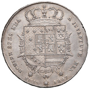 reverse: Firenze. Carlo Ludovico di Borbone reggenza di Maria Luigia (1803-1807). Francescone 1807 AG. Pagani 31. MIR 425/2. BB/Buon BB
