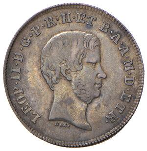 obverse: Firenze. Leopoldo II di Lorena (1824-1859). Paolo 1856 AG. Pagani 150. MIR 457/5. Patina di medagliere, buon BB