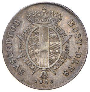 reverse: Firenze. Leopoldo II di Lorena (1824-1859). Paolo 1856 AG. Pagani 150. MIR 457/5. Patina di medagliere, buon BB