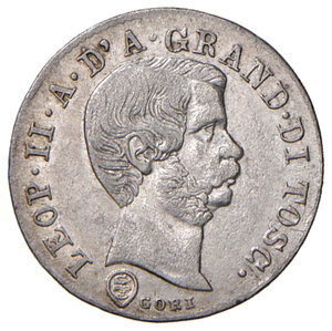 obverse: Firenze. Leopoldo II di Lorena (1824-1859). Da 10 quattrini 1858 MI. Pagani 167. MIR 461. q.SPL/SPL