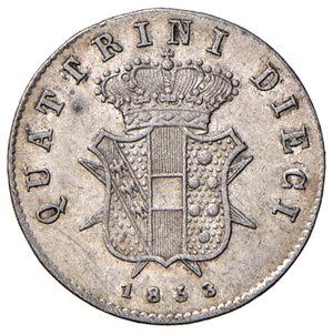 reverse: Firenze. Leopoldo II di Lorena (1824-1859). Da 10 quattrini 1858 MI. Pagani 167. MIR 461. q.SPL/SPL