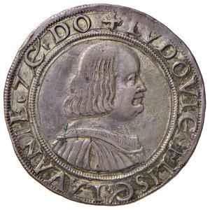 obverse: Messerano. Ludovico II Fieschi (1528-1532). Testone AG gr. 9,51. CNI 20. Ravegnani Morosini 4. MIR 691. Raro. BB-SPL