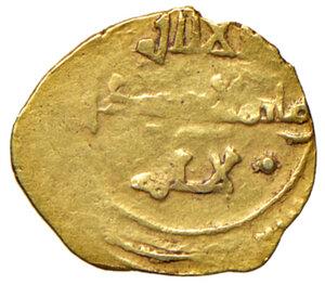 reverse: Messina. Ruggero II re di Sicilia (1105-1154). Tarì AV gr. 1,03. Spahr 40. Travaini 170. MIR 14. D Andrea Normanni 200. Raro. BB